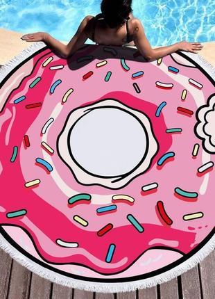 Пляжный коврик пончик sport line - №5503