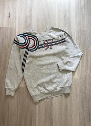 Вінтажний світшот кофта худі реглан оверсайз з принтом / винтажный свитшот худи с принтом