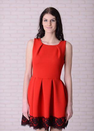 Красное платье olko