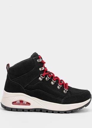 Оригинальные женские ботинки skechers, черного цвета (155220 blk)