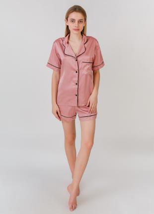 Пижама шелк армани serenade d1513 розовая
