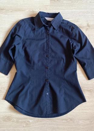 Рубашка черная приталенная