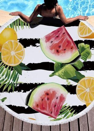 Пляжное покрывало лимон sport line - №6065