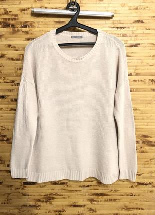 Льняная кофта свитер пуловер cos  бежевого цвета оверсайз