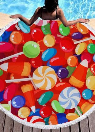 Круглый пляжный коврик sport line - №6181
