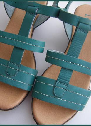 Кожаные босоножки - 100% натуральная кожа -новые- 38 / 24,5 см – lotus италия