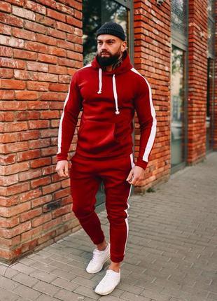 Теплый спортивный костюм мужской с начесом турция