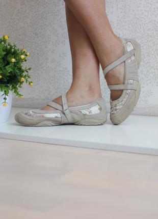 Кожаные замшевые кроссовки балетки спортивные, бренд next