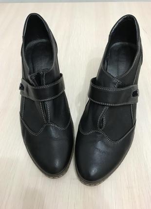 Туфли кожаные geronea
