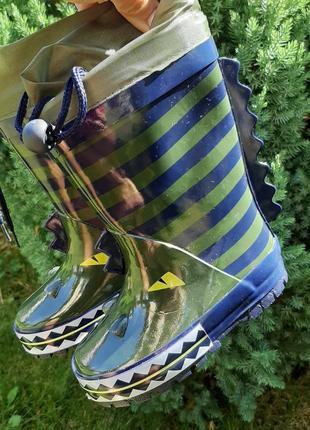 Резинові чобітки з утепленням.сапоги для мальчика. гумачки дитячі