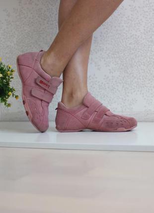 Замшевые кроссовки, натуральная кожа и замша, бренд esprit