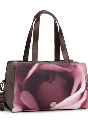 Большая сумка через плечо helena christensen со съемным плечевым ремнем от kipling