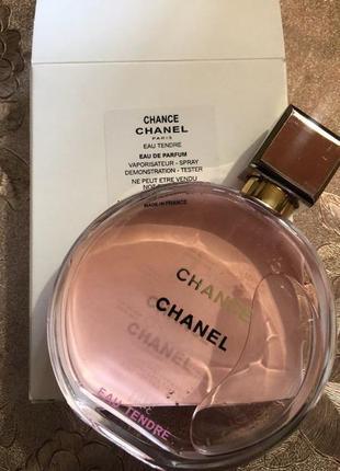 Chanel chance eau tendre парфюмированная вода тестер с крышечкой, 100 ml