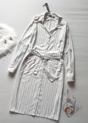 Трендова сукня-сорочка в полоску