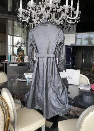 Кожаное пальто christian dior