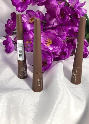 Рассыпчатые тени для бровей aden eyebrow loose powder,коричневый к.1115