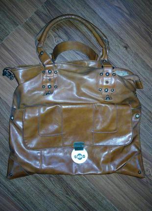 Коричневая стильная сумка
