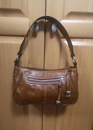 Кожаная сумка на плечо m&s