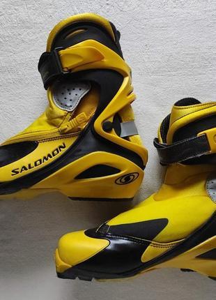 Ботинки для беговых лыж salomon rs9 sns pilot. 40.5
