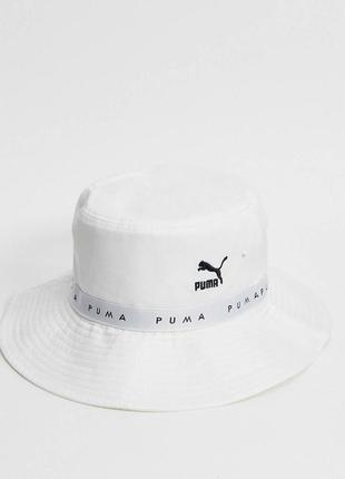 Белая шляпка/панамка для ценителей стиля puma