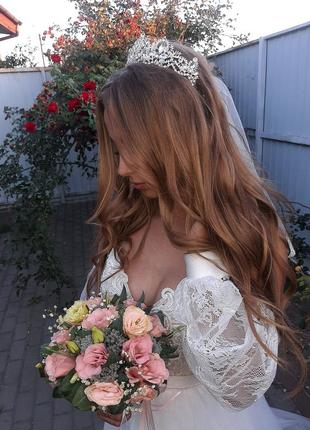 Диадема , диадема с серьгами,диадема на свадьбу  ,выпускной
