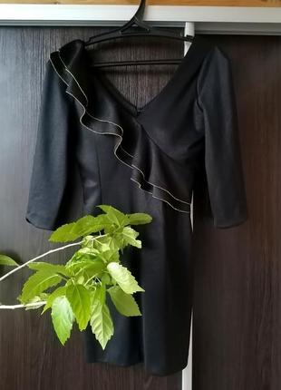 Шикарное, стильное чёрное платье сукня. top dress