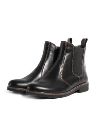 Черные кожаные челси vm-1018-03ch