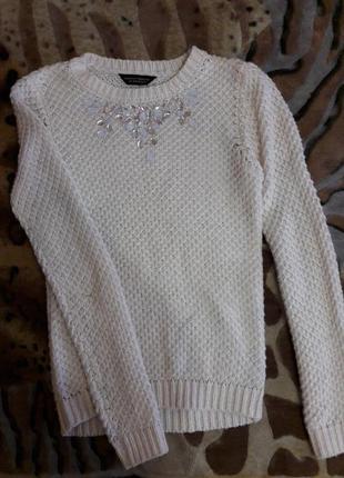 Нежный свитерок красивой вязки от dorothy perkins