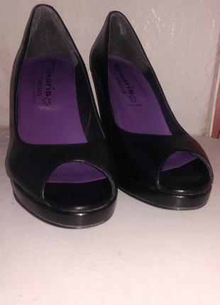 Итальянские туфли tamaris (кожа)