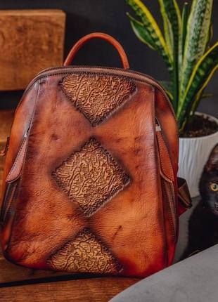 🔥чепурний фараон рюкзак шкіряний жіночий  сумка кожа
