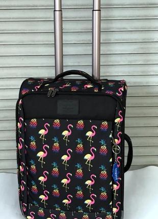 Чемодан, маленький чемодан, фламинго, валіза, ручная кладь, самолетный чемодан