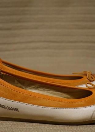 Изящные комбинированные фирменные кожаные балетки candice cooper германия 37 р.