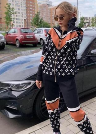 Женский шерстяной спортивный костюм. over size 42-46