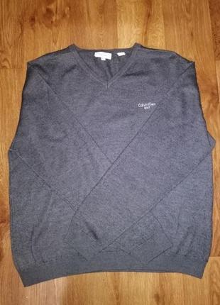 🔥стильная серая трикотажная мужская кофта, джемпер, свитер calvin klein🔥