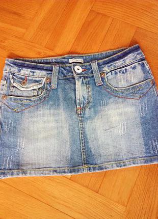 Супер джинсовая юбочка