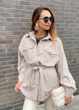 Рубашка-пальто тренд осени