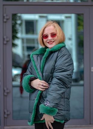 Зимняя куртка с мехом норки