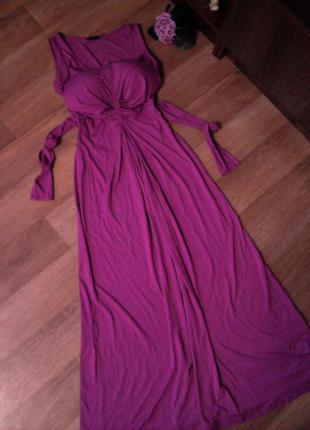 Платье сарафан длинное розовое 50 52 размер hobbs