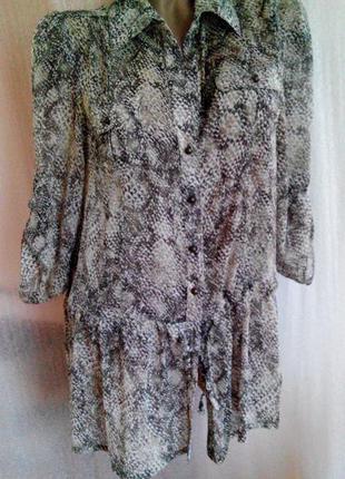 Потрясающая блуза. принт питон. morgan