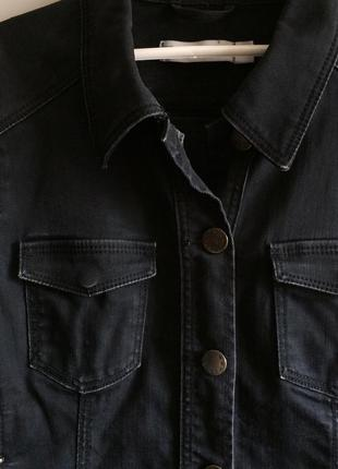 Чёрная джинсовка, джинсовая куртка от zara