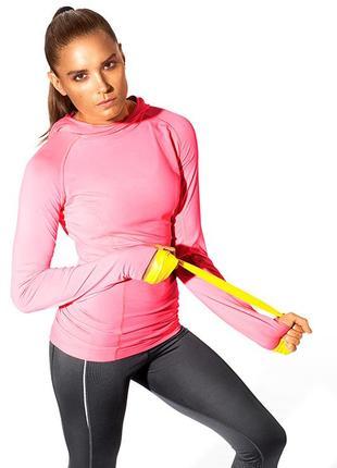 Спортивный лонгслив бадлон для бега  цвет розовый меланж размер 20-22