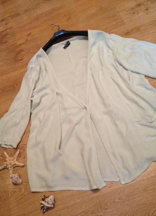 Стильный  длинный кардиган пиджак/ свободный фасон/под любую одежду / 4-5 xl