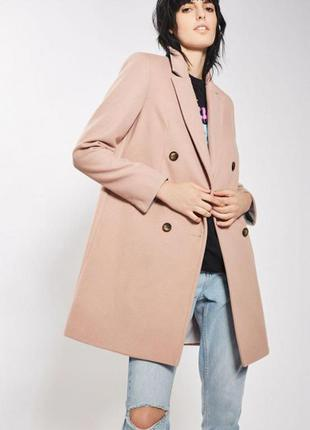 Пальто topshop пыльная роза