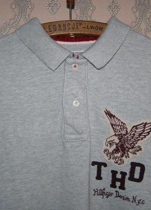 Новый мужской пуловер длинное поло от tommy hilfiger denim
