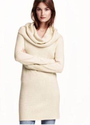 Тепленькое платье свитер/туника с хомутом