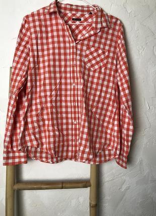 Рубашка в клетку от marc o'polo