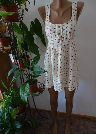Хлопковый сарафан платье  c деревянными пуговицами на лето