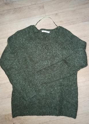 Шерстяной, мохер свитер . шикарный состав.