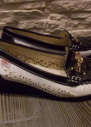 Мокасины туфли на танкетке vero pelle италия р.39 стелька 24 см новые балетки