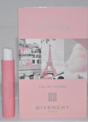 Givenchy live irresistible eau de toilette объем 1мл оригинал